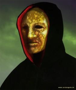 verwitterte Maske